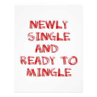 Newly Single and Ready to Mingle - 1 - Red Customized Letterhead