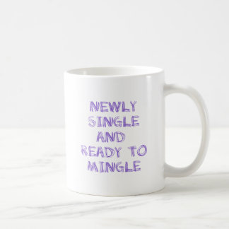 Newly Single and Ready to Mingle - 1 - Violet Coffee Mugs