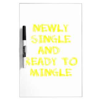 Newly Single and Ready to Mingle - 1 - Yellow Dry-Erase Whiteboards
