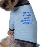 Newly Single and Ready to Mingle - 2 - Blue Dog T Shirt