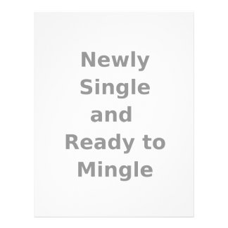 Newly Single and Ready to Mingle - 2 - Gray Customized Letterhead