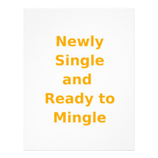 Newly Single and Ready to Mingle - 2 - Orange Letterhead Template