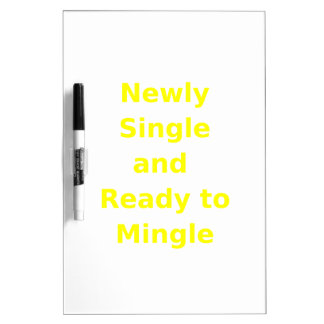 Newly Single and Ready to Mingle - 2 - Yellow Dry-Erase Board