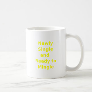 Newly Single and Ready to Mingle - 2 - Yellow Coffee Mugs