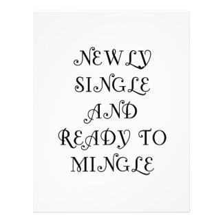 Newly Single and Ready to Mingle - 3 - Black Personalized Letterhead