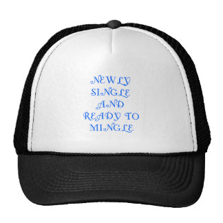 Newly Single and Ready to Mingle - 3 - Blue Trucker Hat