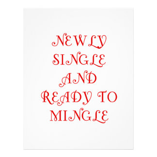 Newly Single and Ready to Mingle - 3 - Red Personalized Letterhead