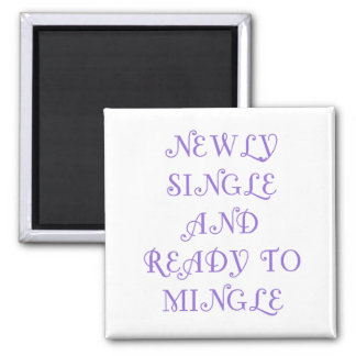 Newly Single and Ready to Mingle - 3 - Violet Fridge Magnets