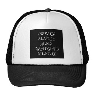 Newly Single and Ready to Mingle - 3 - White Trucker Hat