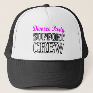newly single break up support crew divorce party trucker hat