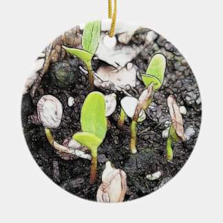 Newly Sprouted Seedlings Christmas Ornament
