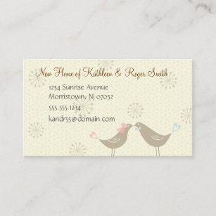 Newly wed new home address business card insert newly wed new home address business card insert reheart Images
