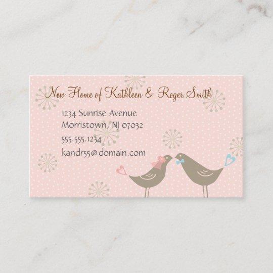 Newly wed new home address business card insert p zazzle newly wed new home address business card insert p m4hsunfo