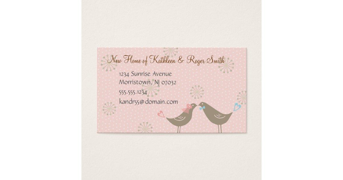 New Address Business Cards & Templates | Zazzle