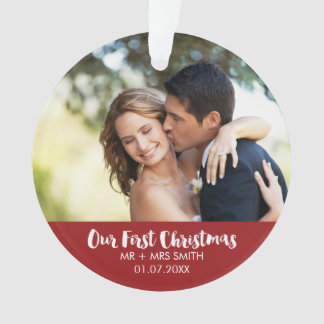 Newly-wed Photo Holiday Christmas Ornament