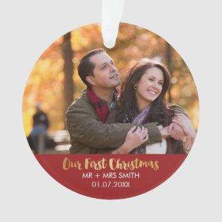Newly-wed Photo Holiday Ornament