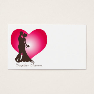 Newly wedded couple business card