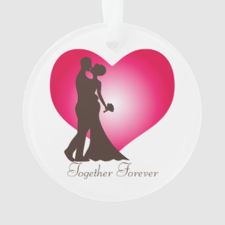 Newly wedded couple ornament