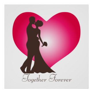 Newly wedded couple poster