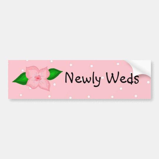Newly Weds Bumper Sticker