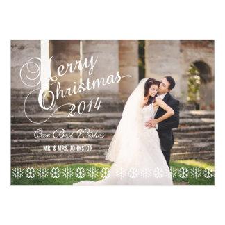 NEWLY WEDS CHRISTMAS PHOTO HOLIDAY CARD
