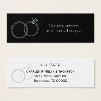 Newly Weds New Home Address Mini Business Card