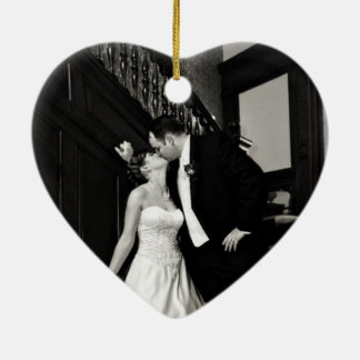 Newly Weds Photo ornament