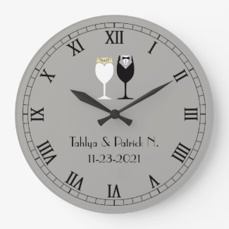 Newly Weds' Wall Clock