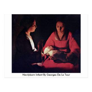 Newlyborn Infant By Georges De La Tour Postcard