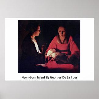 Newlyborn Infant By Georges De La Tour Poster
