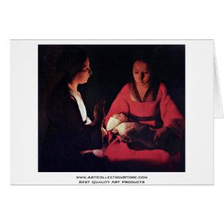 Newlyborn Infant (The Nativity?) Greeting Card