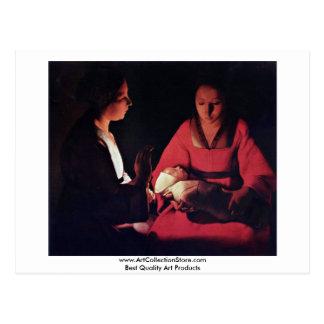 Newlyborn Infant (The Nativity?) Postcards