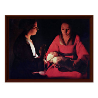 Newlyborn Infant (The Nativity?) Post Cards