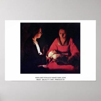 Newlyborn Infant (The Nativity?) Print