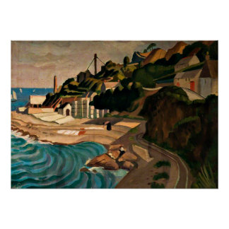 Newlyn, Looking towards Mousehole - Currie art Poster