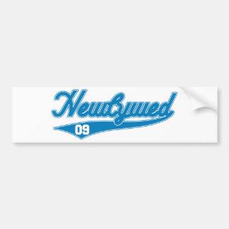 Newlywed '09 (Baseball Script Blue) Bumper Stickers