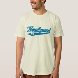 Newlywed '09 (Baseball Script Blue) T-Shirt