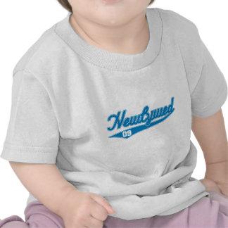 Newlywed 09 Baseball Script Blue Tshirts