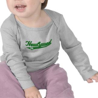Newlywed 09 Baseball Script Green T Shirt