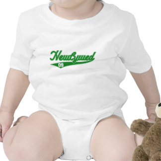 Newlywed 09 Baseball Script Green Bodysuit