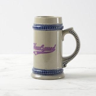 Newlywed '09 (Baseball Script Purple) Coffee Mug
