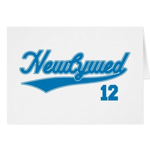 Newlywed 12 (Baseball Script Blue) Card