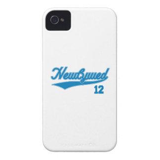 Newlywed 12 (Baseball Script Blue) iPhone 4 Case-Mate Case
