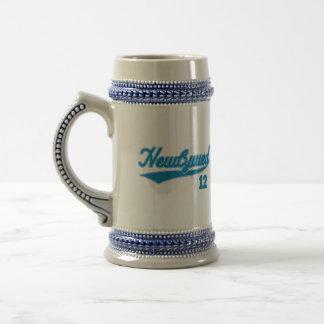 Newlywed 12 (Baseball Script Blue) Mug