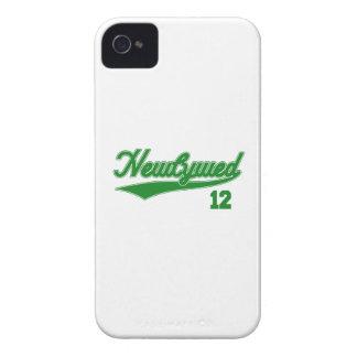 Newlywed 12 (Baseball Script Green) Case-Mate iPhone 4 Case