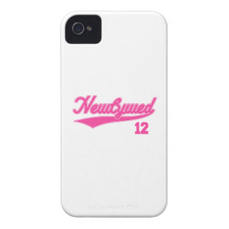 Newlywed 12 (Baseball Script Pink) iPhone 4 Case