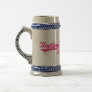 Newlywed 12 (Baseball Script Pink) Mugs