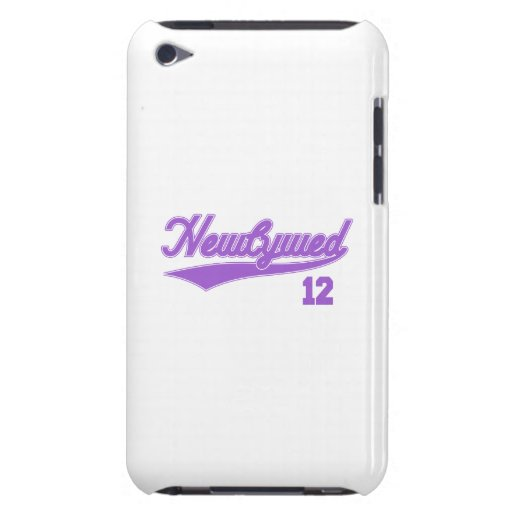 Newlywed 12 (Baseball Script Purple) iPod Touch Cover