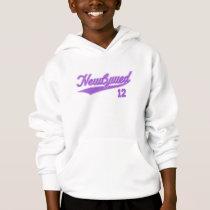Newlywed 12 (Baseball Script Purple) Hoodie