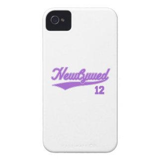 Newlywed 12 (Baseball Script Purple) iPhone 4 Case-Mate Case